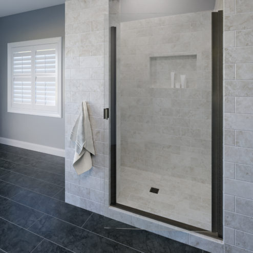 Classic Semi-Frameless 3/16-inch Glass Swing Shower Door